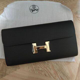 Hermes - エルメスコンスタンス ロング 財布 Wallet ブラック ゴールド金具