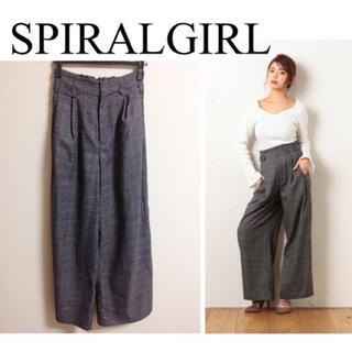 スパイラルガール(SPIRAL GIRL)のSPIRAL GIRL  チェックワイドパンツ(カジュアルパンツ)