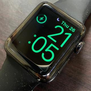 アップル(Apple)の【送料込み】アップルウォッチ シリーズ2 ブラックステンレス 38mm(腕時計(デジタル))