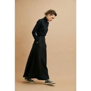 シンゾーン(Shinzone)のshinzone リネンスカート黒/34サイズ(ロングスカート)