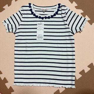エニィファム(anyFAM)の新品 ボーダー Tシャツ トップス 130(Tシャツ/カットソー)