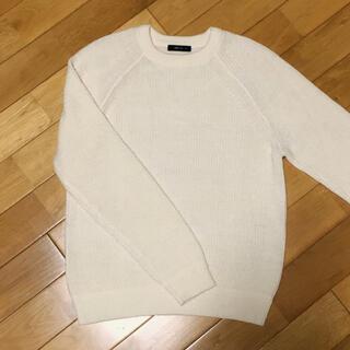 コムサイズム(COMME CA ISM)の《新品》【M】コムサイズム クルーネックセーター アイボリー(ニット/セーター)