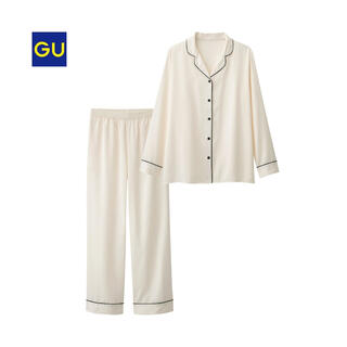 GU - 【新品未使用タグ付き】GU * サテンパジャマ 長袖