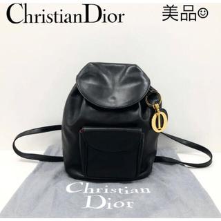 クリスチャンディオール(Christian Dior)の美品 クリスチャンディオール リュックサック レディース ブラック(リュック/バックパック)