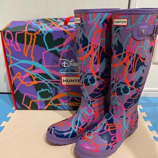 ハンター(HUNTER)のHUNTER 新品 ディズニーコラボ レインブーツ 総柄 マリーポピンズ(レインブーツ/長靴)