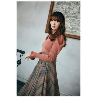 snidel - her lip to♡Volume sleeve Rib Knit Top