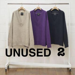 アンユーズド(UNUSED)のUNUSED  oversize Vneck ZIP knit アンユーズド(ニット/セーター)