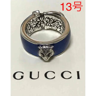 グッチ(Gucci)のGUCCI グッチ シルバー キャットヘッド ガーデン リング 13号 指輪(リング(指輪))