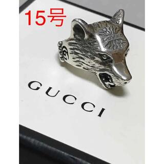 グッチ(Gucci)のGUCCI グッチ アンガーフォレスト ウルフヘッド シルバー リング 指輪(リング(指輪))