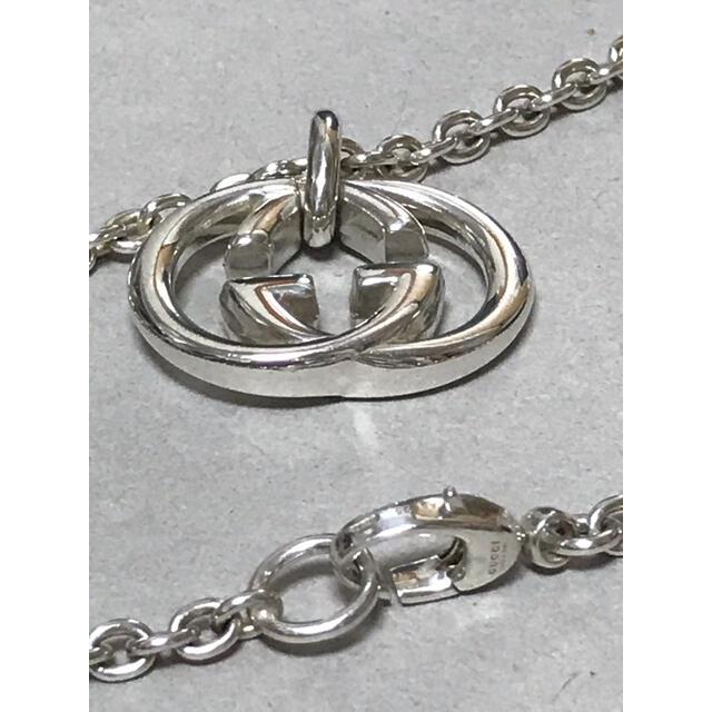 Gucci(グッチ)のGUCCI グッチ インターロッキング シルバー ネックレス 中古 美品 13 メンズのアクセサリー(ネックレス)の商品写真