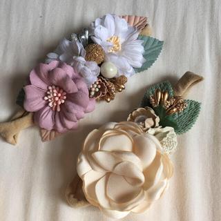 petit main - ヘアバンド 花飾り