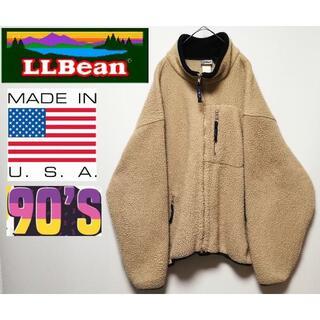 L.L.Bean - 492 90年代 L.L.BEAN USA XL ボアフリースジャケット