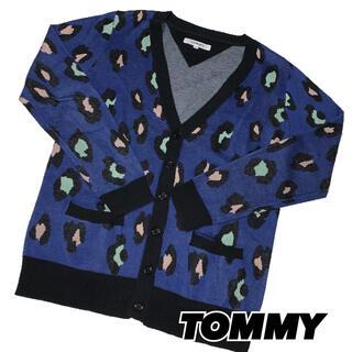 トミー(TOMMY)の【TOMMY】トミーヒルフィガーS 個性的カーディガン 豹柄(カーディガン)