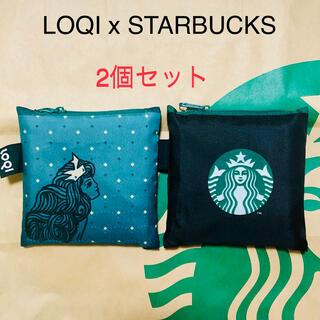 Starbucks Coffee - LOQI エコバッグ スタバエコバッグ 2個セット