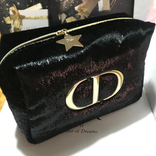 Dior - ディオール  クリスマスポーチ ポーチ 黒