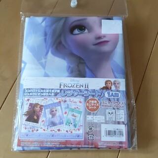 アナトユキノジョオウ(アナと雪の女王)の新品未使用 レジャーシート1人用 アナ雪(弁当用品)