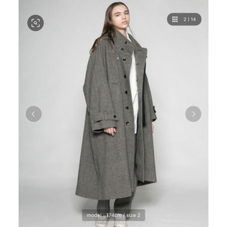 COMOLI - VOAAOV | ヴォアーブ tumbler tweed long coat