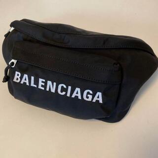 Balenciaga - BALENCIAGA バレンシアガ ウエストポーチ WHEEL 黒
