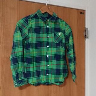 コーエン(coen)の美品☆コーエンキッズ☆緑チェックネルシャツ150㎝(Tシャツ/カットソー)