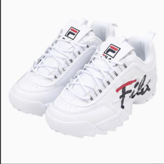 FILA(フィラ)のFILA DISRUPTOR 2 SCRIPT 厚底 スニーカー 23cm レディースの靴/シューズ(スニーカー)の商品写真