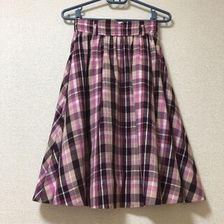 プロポーションボディドレッシング(PROPORTION BODY DRESSING)のプロポーション ボディドレッシング スカート フレア チェック(ロングスカート)