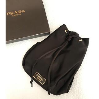 PRADA - PRADA  プラダ パルファム プレート付き 巾着ポーチ 未使用 10-3