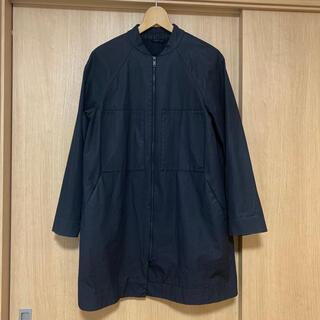 コス(COS)の美品 COS ブルゾン コート ブラック 34 綿(ノーカラージャケット)