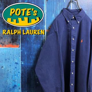 Ralph Lauren - 【ラルフローレン】ワンポイント刺繍ロゴチノボタンダウンシャツ 90s