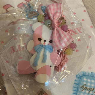 Angelic Pretty - angelic pretty bear toy ネックレス+リング ピンク