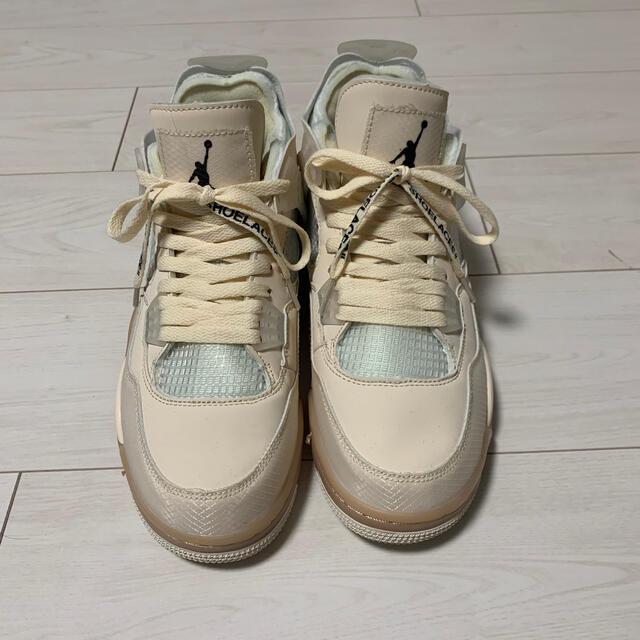 NIKE(ナイキ)のAIR JORDAN 4 off-white メンズの靴/シューズ(スニーカー)の商品写真