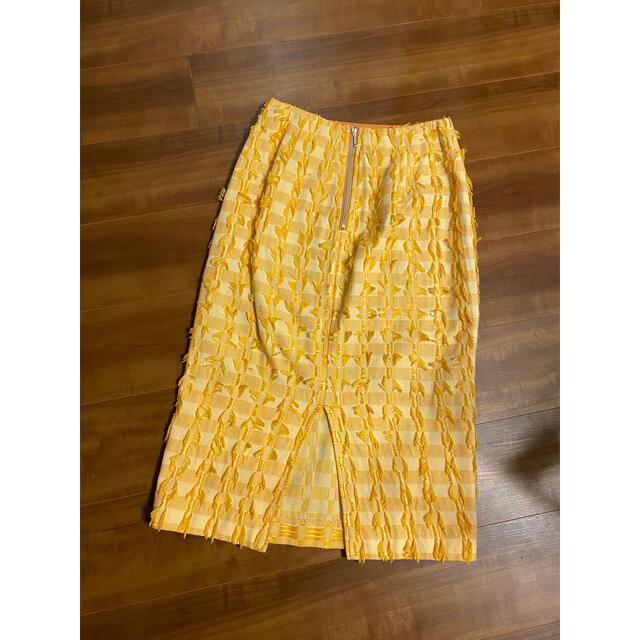 FRAY I.D(フレイアイディー)のFRAY I.D フリンジスカート チェックスカート レディースのスカート(ひざ丈スカート)の商品写真