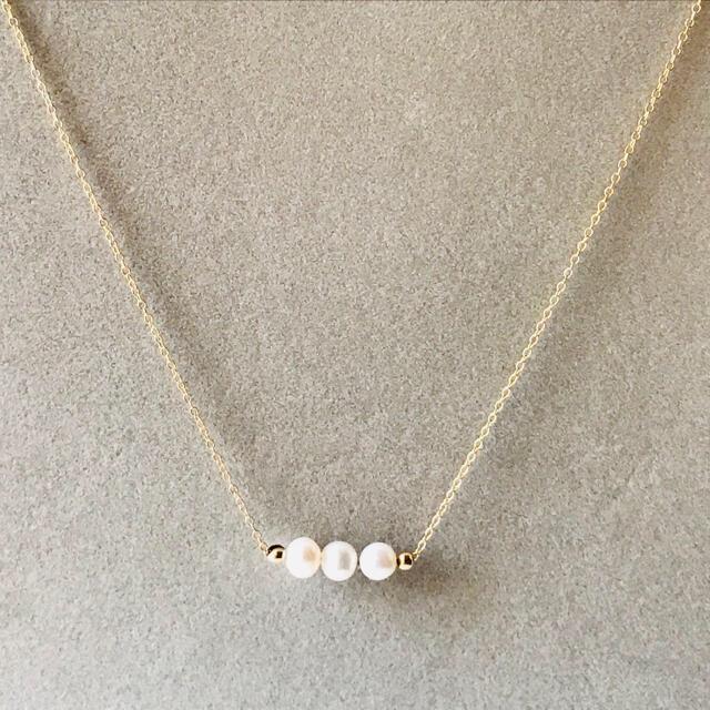 14kgf  淡水パール チェーン ネックレス ハンドメイドのアクセサリー(ネックレス)の商品写真