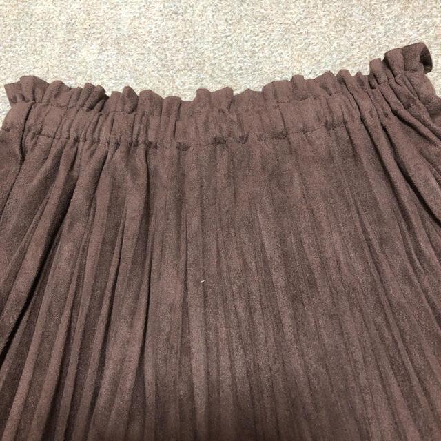 URBAN RESEARCH(アーバンリサーチ)のURBAN RESEARCH♡ベロプリーツスカート ブラウン レディースのスカート(ロングスカート)の商品写真