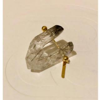 H.P.FRANCE - monaka jewelry ロックピアス ブラックルチル
