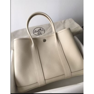 Hermes -  人気カラークレエルメスGardenParty30シルバー金具トートバッグ