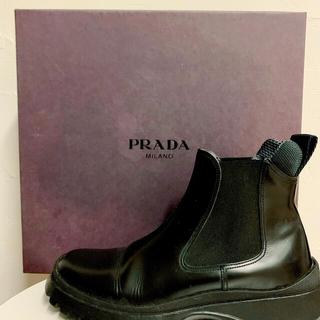 PRADA - ★旬★プラダ PRADA ショートブーツ 36 黒 レディース 靴