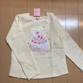 メゾピアノ(mezzo piano)のメゾピアノ 140【新品】♡ケーキ♡(Tシャツ/カットソー)