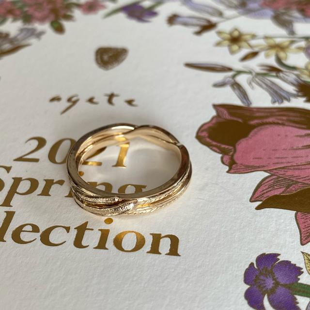 agete(アガット)のagete ✨【2020年】K10 ギメルリング 11号✨期間限定セール❗ レディースのアクセサリー(リング(指輪))の商品写真
