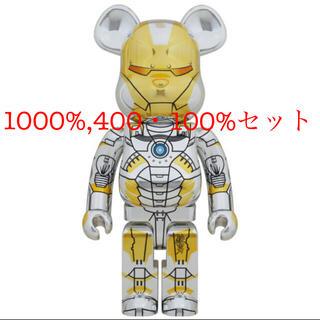 メディコムトイ(MEDICOM TOY)のBE@RBRICK SORAYAMA IRON MAN アイアンマン (キャラクターグッズ)