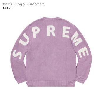 Supreme - 未使用 正規品 supreme back logo sweater Sサイズ