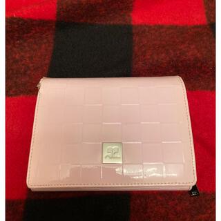 クレージュ(Courreges)のクレージュ エナメル ピンク 財布(財布)