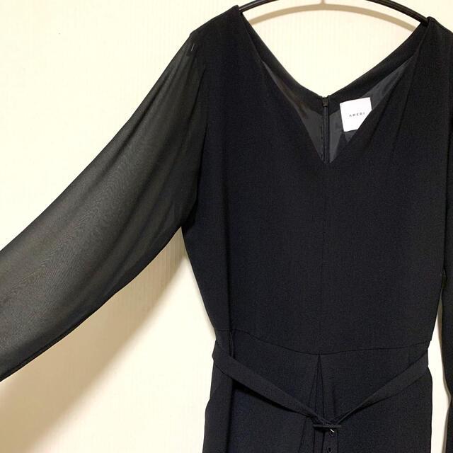 Ameri VINTAGE(アメリヴィンテージ)のAmeri VINTAGE レディライクジャンプスーツ ブラック レディースのパンツ(オールインワン)の商品写真