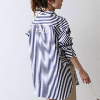 FRAMeWORK - ブロード バックロゴシャツ