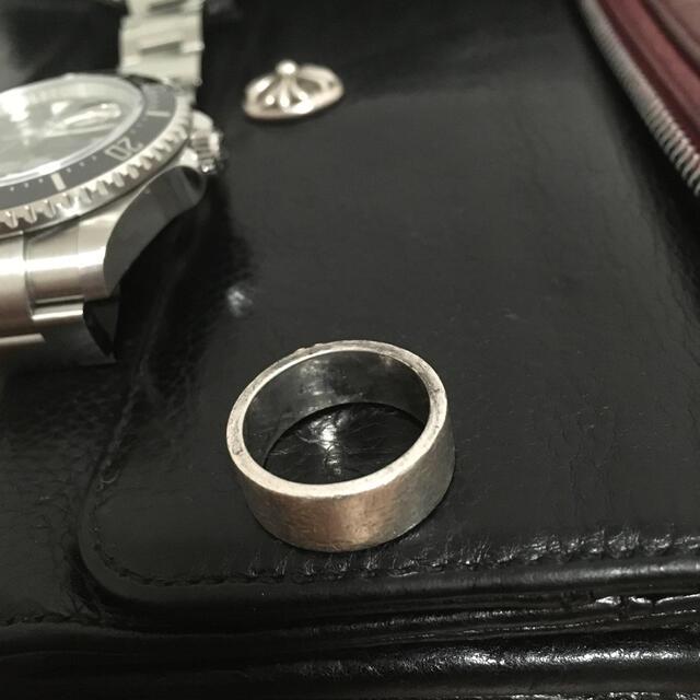 goro's(ゴローズ)のゴローズ ローズメタル付き平打ちリング メンズのアクセサリー(リング(指輪))の商品写真
