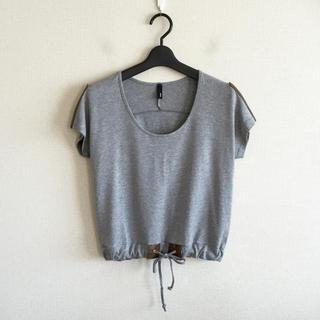 ステイプル(staple)のstaple♡グレーのデザインTシャツ(カットソー(半袖/袖なし))