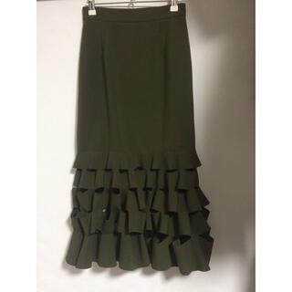 エイソス(asos)のASOS なみなみ裾 ミディスカート(ひざ丈スカート)