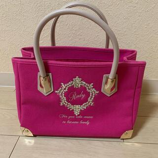 Rady - Rady フレーム トートバッグ Sサイズ ピンク 美品
