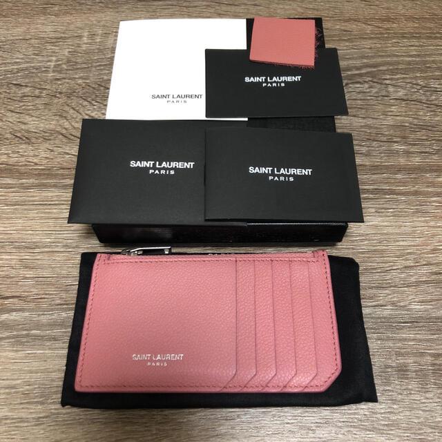 Saint Laurent(サンローラン)の美品 サンローラン  フラグメントケース カードケース コインケース  ピンク レディースのファッション小物(コインケース)の商品写真