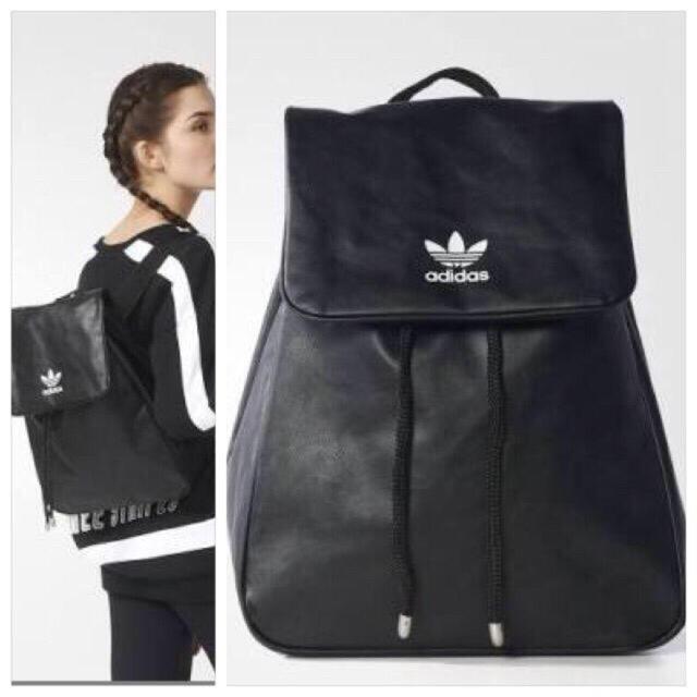adidas(アディダス)の16AW adidas originals レザーバックパック 黒 メンズのバッグ(バッグパック/リュック)の商品写真