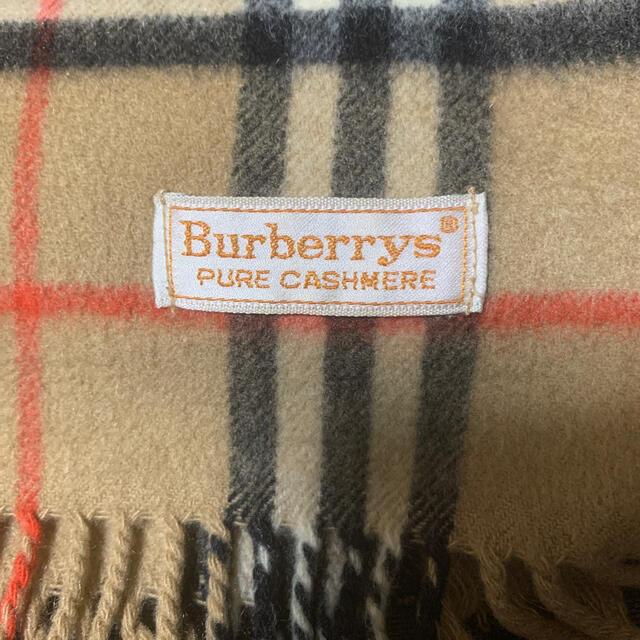 BURBERRY(バーバリー)のバーバリーピュアカシミアマフラー USED レディースのファッション小物(マフラー/ショール)の商品写真